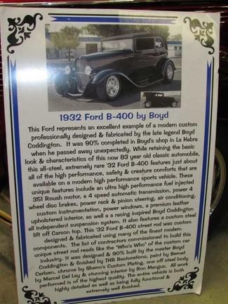 1932 Ford B-400 - Utah Showroom Newberg, Oregon 48