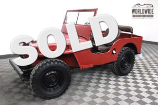 1947 Willy'S Jeep CJ2A