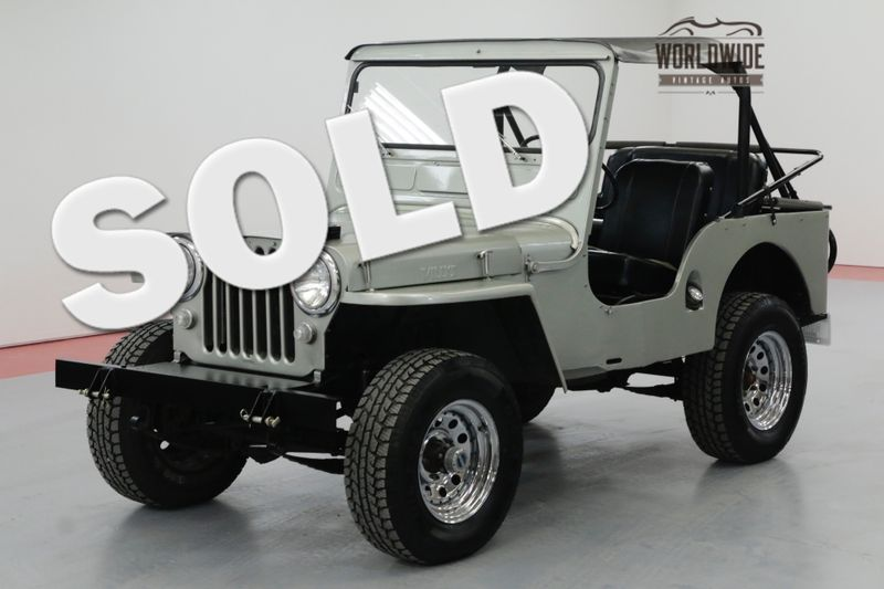 1950 Jeep CJ3A 198 CID V6 3-SPEED 4X4 BIKINI TOP | Denver, CO | Worldwide Vintage Autos