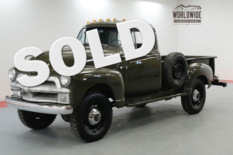 1955 Chevrolet 3600 NAPCO 4X4 FRAME OFF RESTORED RARE COLLECTOR | Denver, CO | Worldwide Vintage Autos