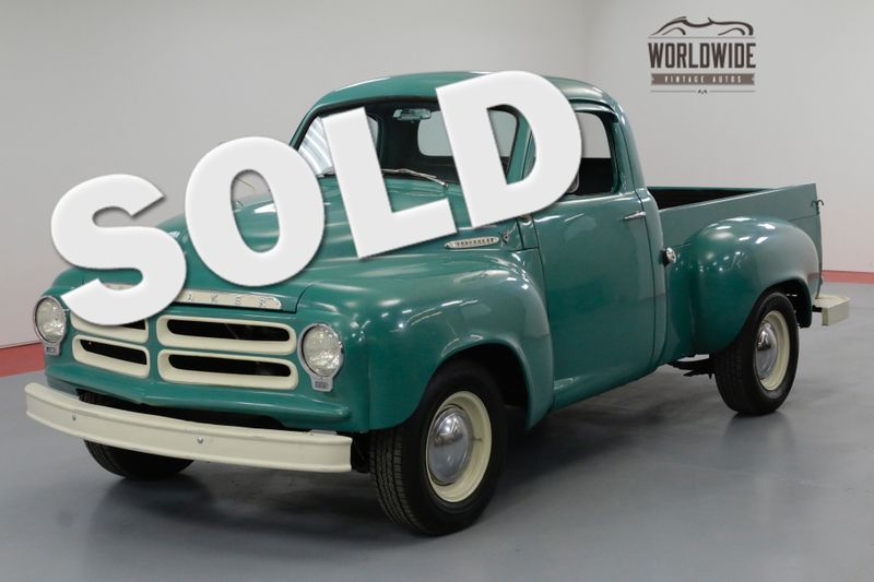 1955 Studebaker PICKUP RESTORED! V8! VERY RARE E7! OVERDRIVE! DISC   Denver, CO   Worldwide Vintage Autos