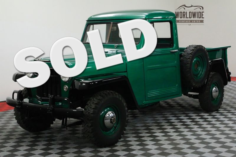 1956 Willys PICKUP RESTORED RARE 4X4 TRUCK COLLECTOR | Denver, CO | WORLDWIDE VINTAGE AUTOS