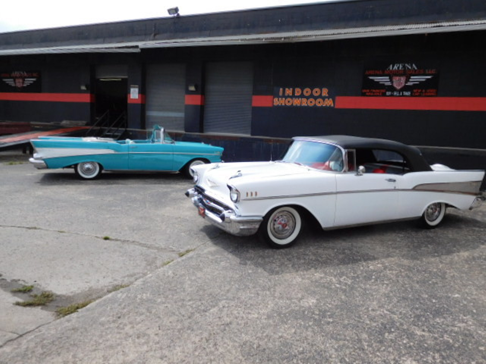 1957 chevrolet bel air air conditioned city ohio arena for Air motors and drives llc