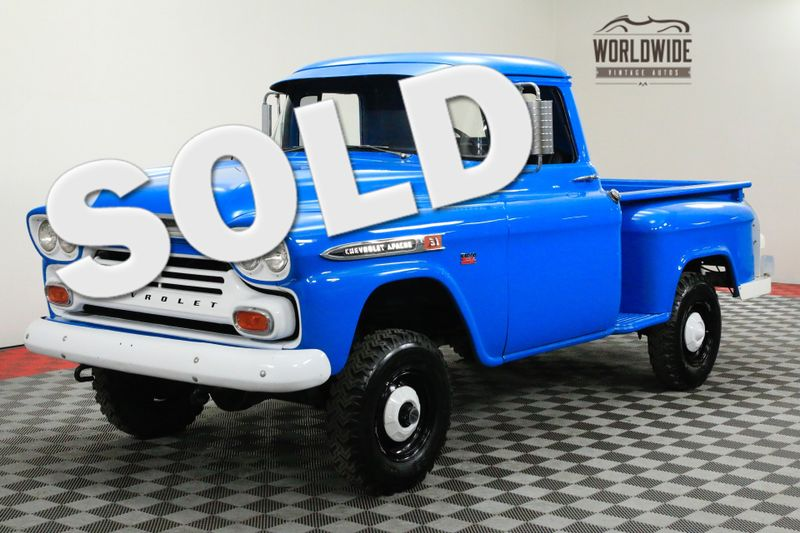 1959 Chevrolet 3100 FACTORY NAPCO V8 POWER BRAKES 4-SPEED | Denver, CO | Worldwide Vintage Autos