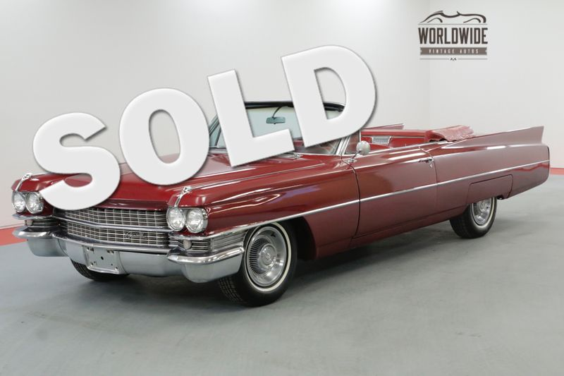 1963 Cadillac CONVERTIBLE RESTORED RARE V8 CONVERTIBLE RED/WHITE | Denver, CO | Worldwide Vintage Autos