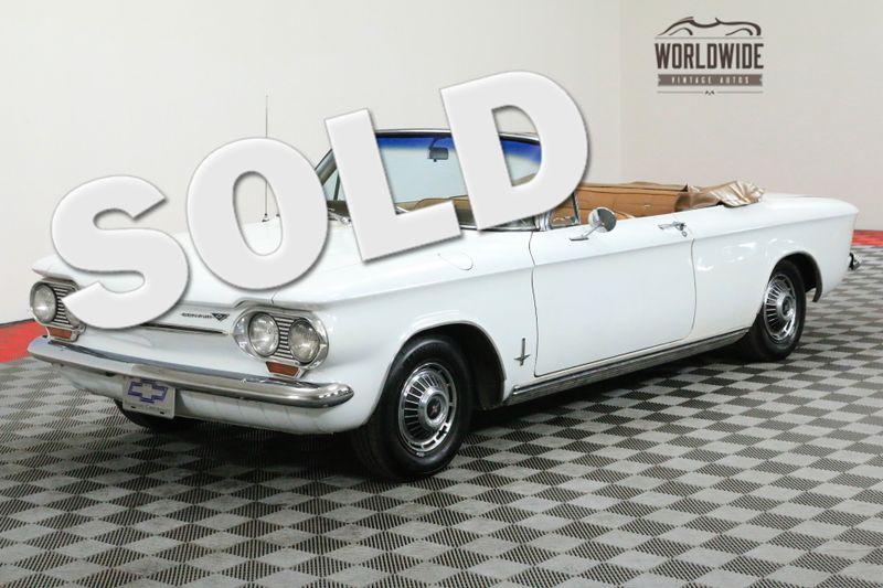 1963 Chevrolet CORVAIR MONZA 900 CONVERTIBLE RESTORED 4 SPEED | Denver, CO | WORLDWIDE VINTAGE AUTOS