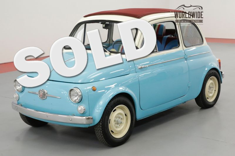 1963 Fiat 500 RARE ITALIAN FUN SUICIDE DOORS RED RAG TOP | Denver, CO | Worldwide Vintage Autos