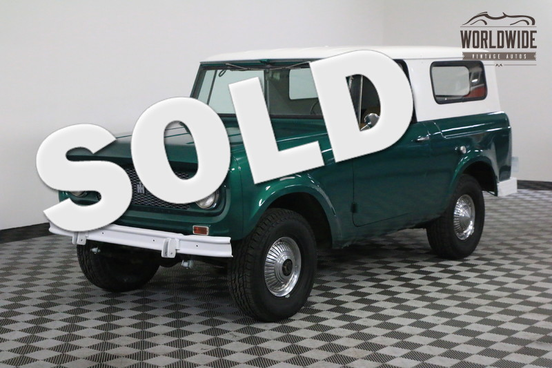 1964 International SCOUT RARE OVERDRIVE. 4X4. CONVERTIBLE