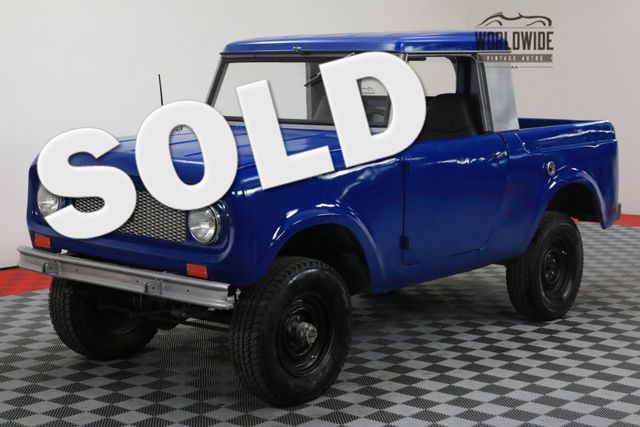 1964 International SCOUT FRAME OFF RESTO 4X4 HALF CAB REBUILT MOTOR | Denver, CO | WORLDWIDE VINTAGE AUTOS