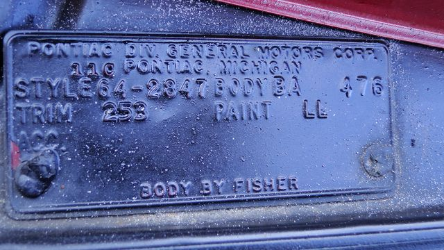 1964 Pontiac BONNEVILLE W/BUILD SHEET 2 DOOR SPORT COUPE A/C, 51,000 ORIG MILES Phoenix, Arizona 17