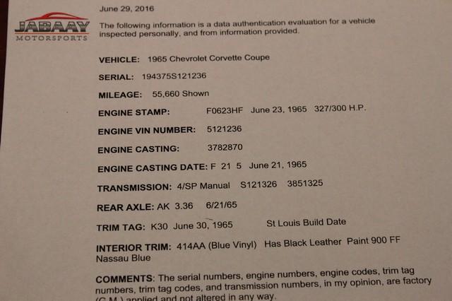 1965 Chevrolet Corvette Merrillville, Indiana 49