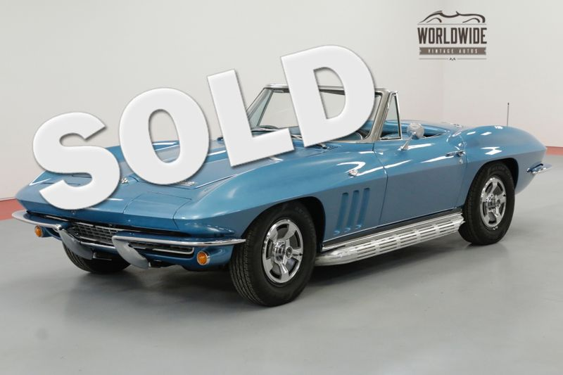 1966 Chevrolet CORVETTE RESTORED CONVERTIBLE FACTORY OPTIONS 4 SPEED | Denver, CO | Worldwide Vintage Autos
