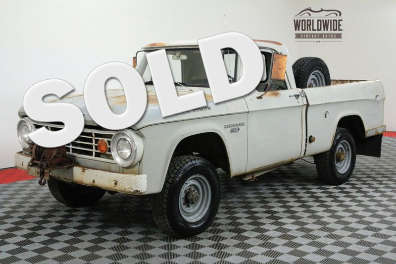 1967 Dodge POWER WAGON SWB SHORT BED 4X4 ORIGINAL PAINT | Denver, CO | Worldwide Vintage Autos
