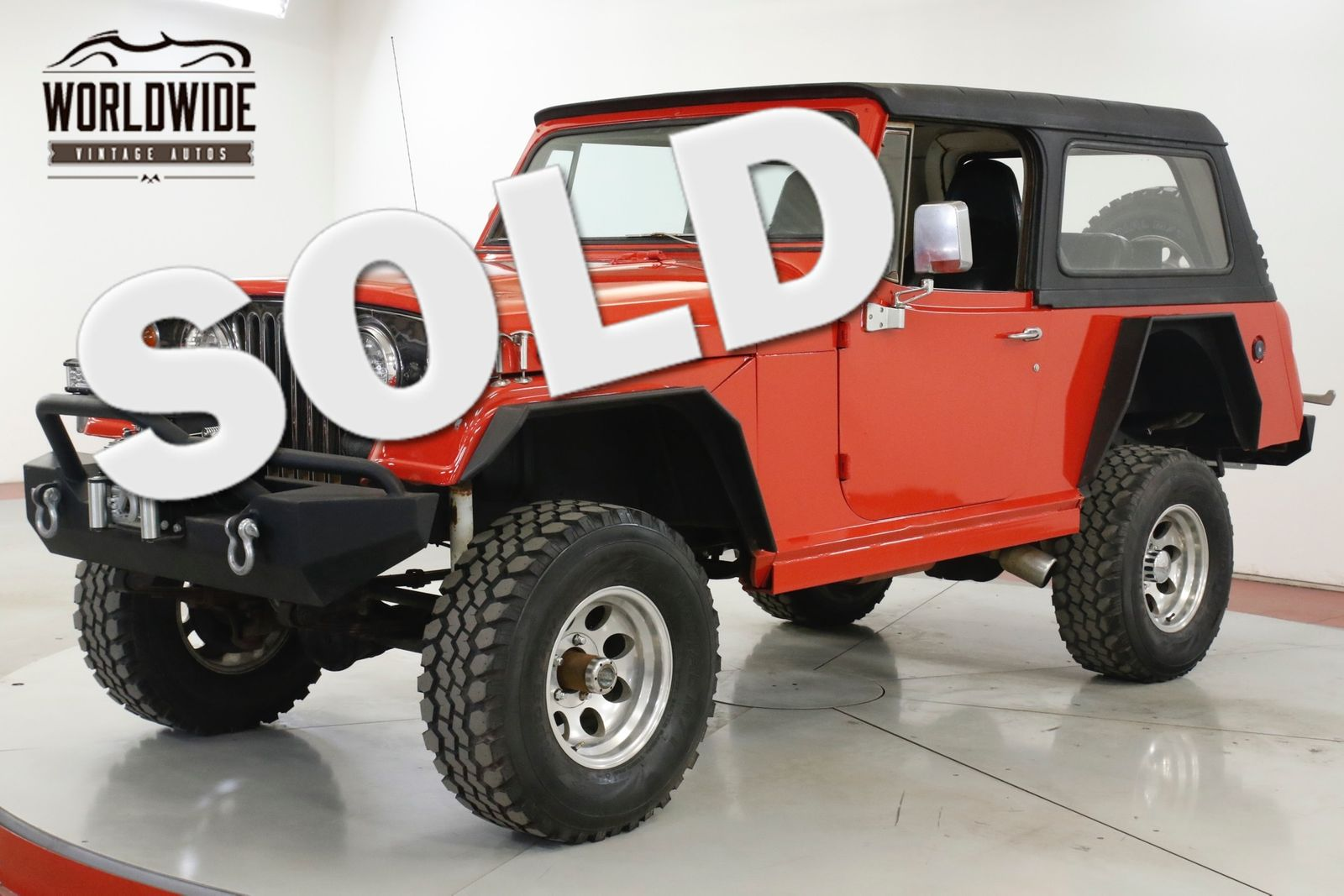 1968 JEEP COMMANDO JEEPSTER LIFTED WINCH HARDTOP AUTO NEW PAINT CALL 1-877-422-2940! FINANCING! WORLD WIDE SHIPPING. CONSIGNMENT. TRADES. FORD