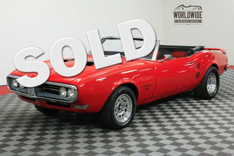 1968 Pontiac FIREBIRD CONVERTIBLE 501 V8! AUTO DANA 44 POSI | Denver, CO | WORLDWIDE VINTAGE AUTOS