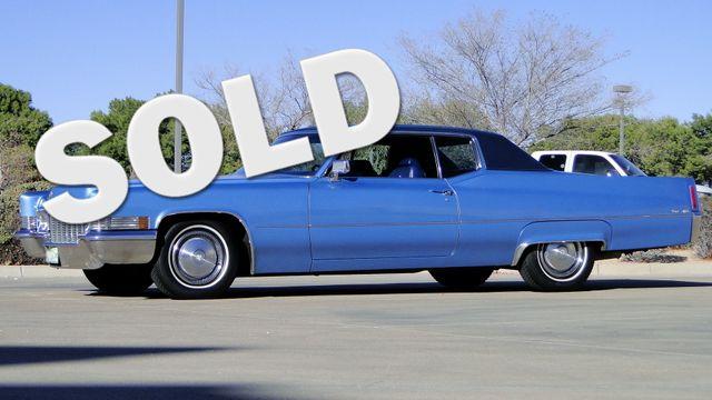 1970 Cadillac COUPE DeVILLE UNRESTORED 64,000 ORIG MILE CALIF CAR Phoenix, Arizona 0