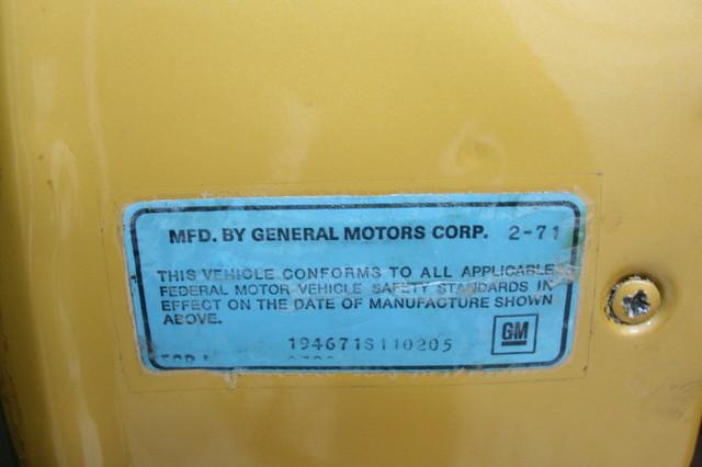 1971 Chevrolet Corvette  454 convertible Houston, Texas 40