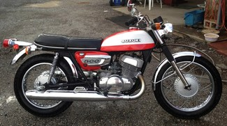 1972 Suzuki T500 RESTORATION SERVICES ORIGINAL CONDITION STOCK MOTORCYCLES Cocoa, Florida