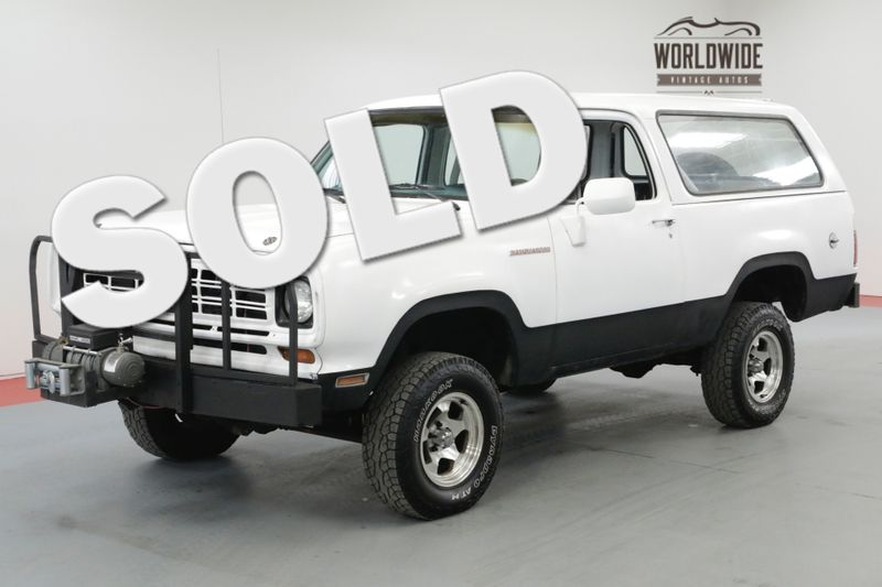 1975 Dodge RAM CHARGER RARE CONVERTIBLE 440 BIG BLOCK 4X4 | Denver, CO | Worldwide Vintage Autos