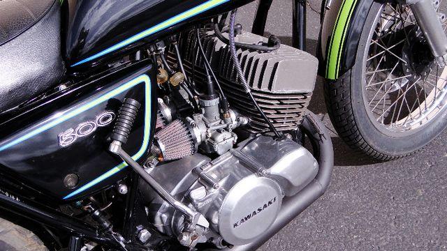 1975 Kawasaki H1 500cc 2-STROKE TRIPLE  CAFE' RACER  OIL INJECTED TWO-STROKE Phoenix, Arizona 5
