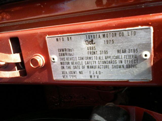 1976 Toyota FJ40 Land Cruiser FJ40 San Antonio, Texas 19