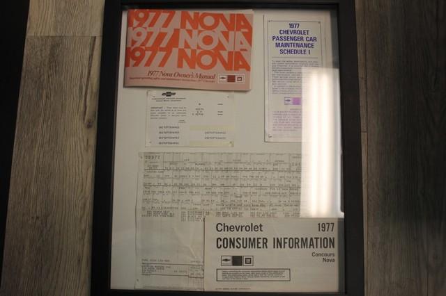 1977 Chevrolet Nova ORIGINAL BUILD SHEET! Mooresville , NC 2