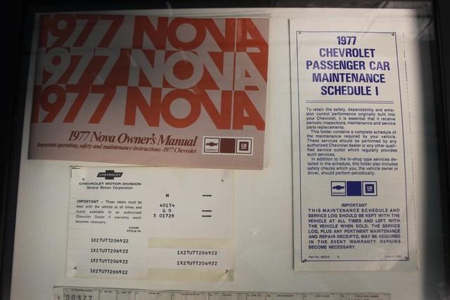 1977 Chevrolet Nova ORIGINAL BUILD SHEET! Mooresville , NC 65