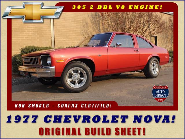 1977 Chevrolet Nova ORIGINAL BUILD SHEET! Mooresville , NC 0