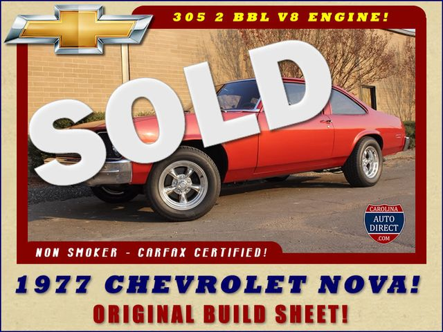 1977 Chevrolet Nova ORIGINAL BUILD SHEET! Mooresville , NC 0