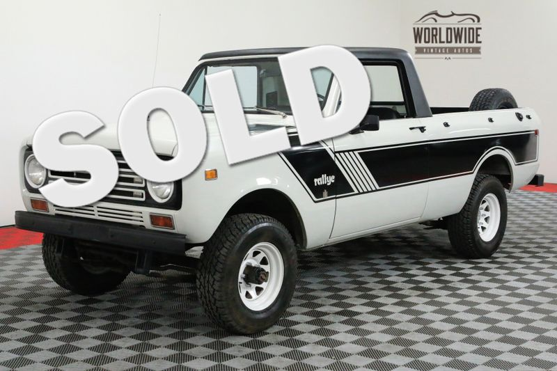 1977 International SCOUT RARE TERRA SCOUT II 4X4 CONVERTIBLE TOP V8 | Denver, CO | Worldwide Vintage Autos