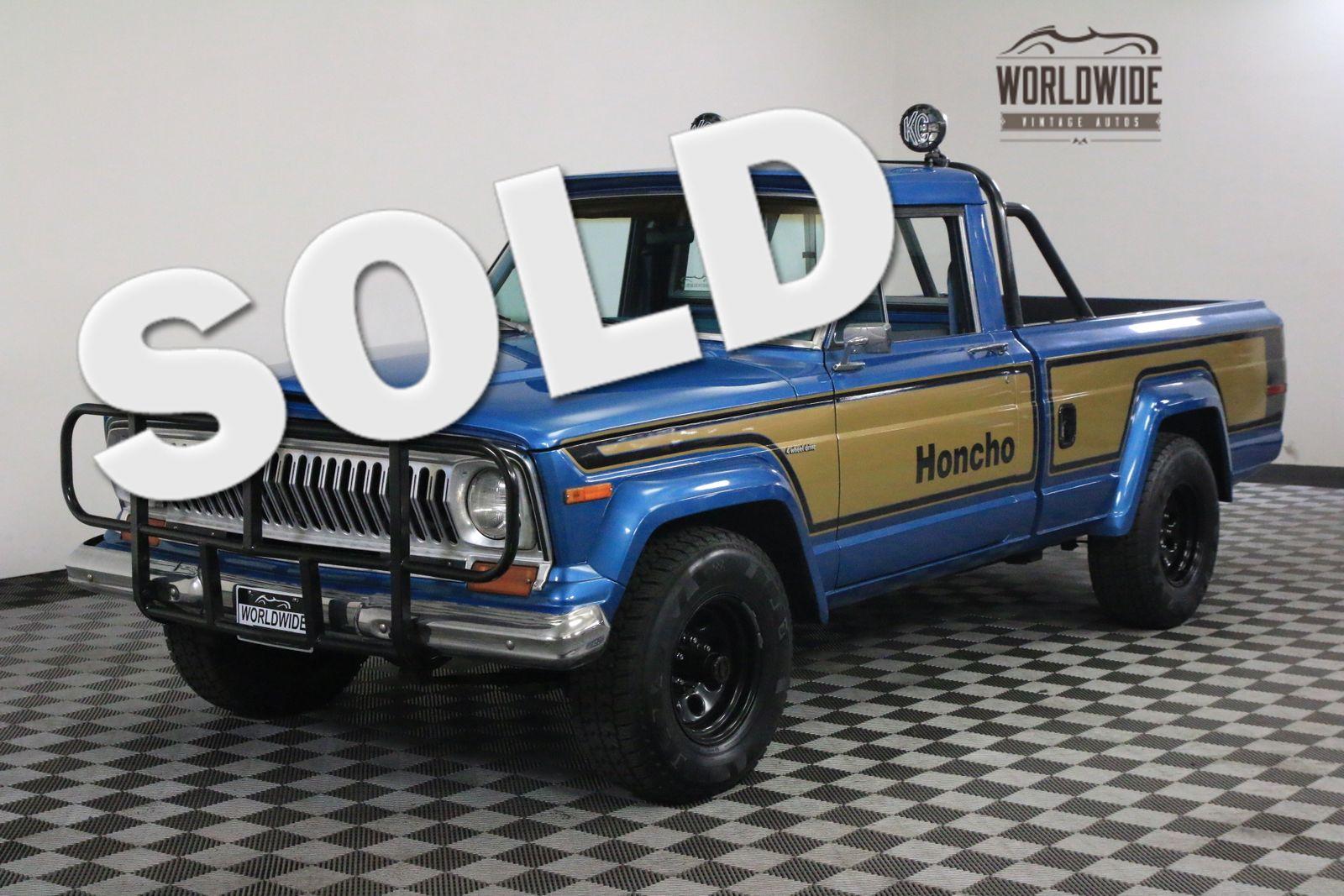 1978 blue honcho gladiator restored rare used jeep j10 for sale in denver colorado. Black Bedroom Furniture Sets. Home Design Ideas