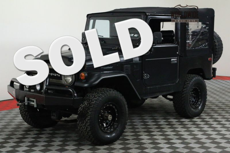 1978 Toyota FJ40  CUSTOM TRIPLE BLACK FULL SOFT TOP | Denver, CO | Worldwide Vintage Autos