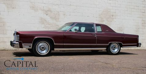 1979 Lincoln Continental Town Coupe V8 Classic Car with Only 23,692 Miles in Eau Claire