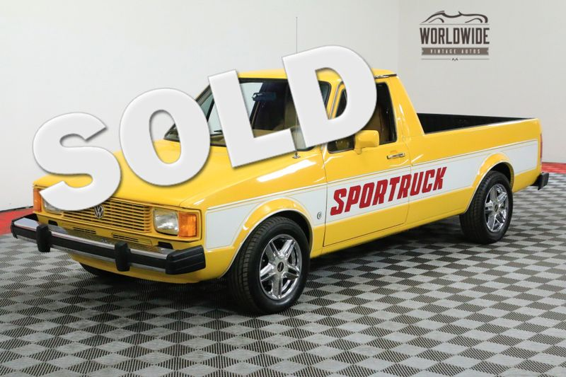 1981 Volkswagen RABBIT PICKUP RARE SPORT MODEL RESTORED ONLY MADE 4 YEARS | Denver, CO | WORLDWIDE VINTAGE AUTOS
