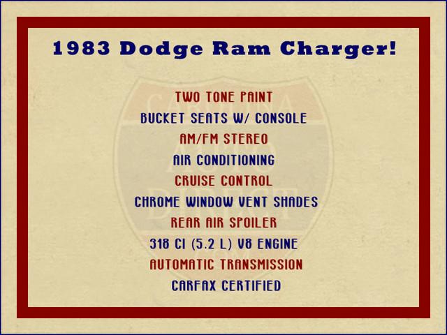 1983 Dodge Ram Charger 150 Royal SE RWD - 318 CI (5.2L V8) Mooresville , NC 1