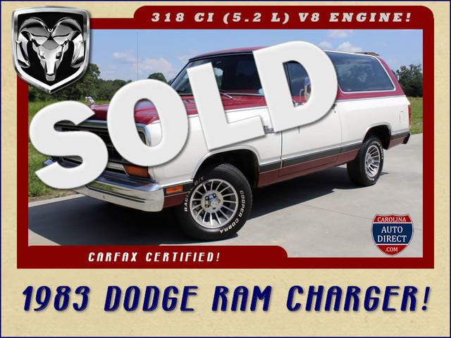 1983 Dodge Ram Charger 150 Royal SE RWD - 318 CI (5.2L V8) Mooresville , NC 0