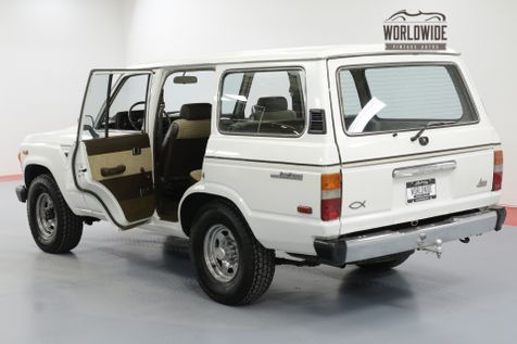 1984 Toyota LAND CRUISER FJ60 TIME CAPSULE COLLECTOR GRADE LOW MILES | Denver, CO | Worldwide Vintage Autos in Denver, CO