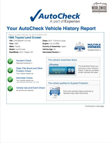 1985 Toyota LAND CRUISER FJ60 RARE SOLID COLORADO TRUCK COLLECTOR | Denver, CO | Worldwide Vintage Autos in Denver, CO