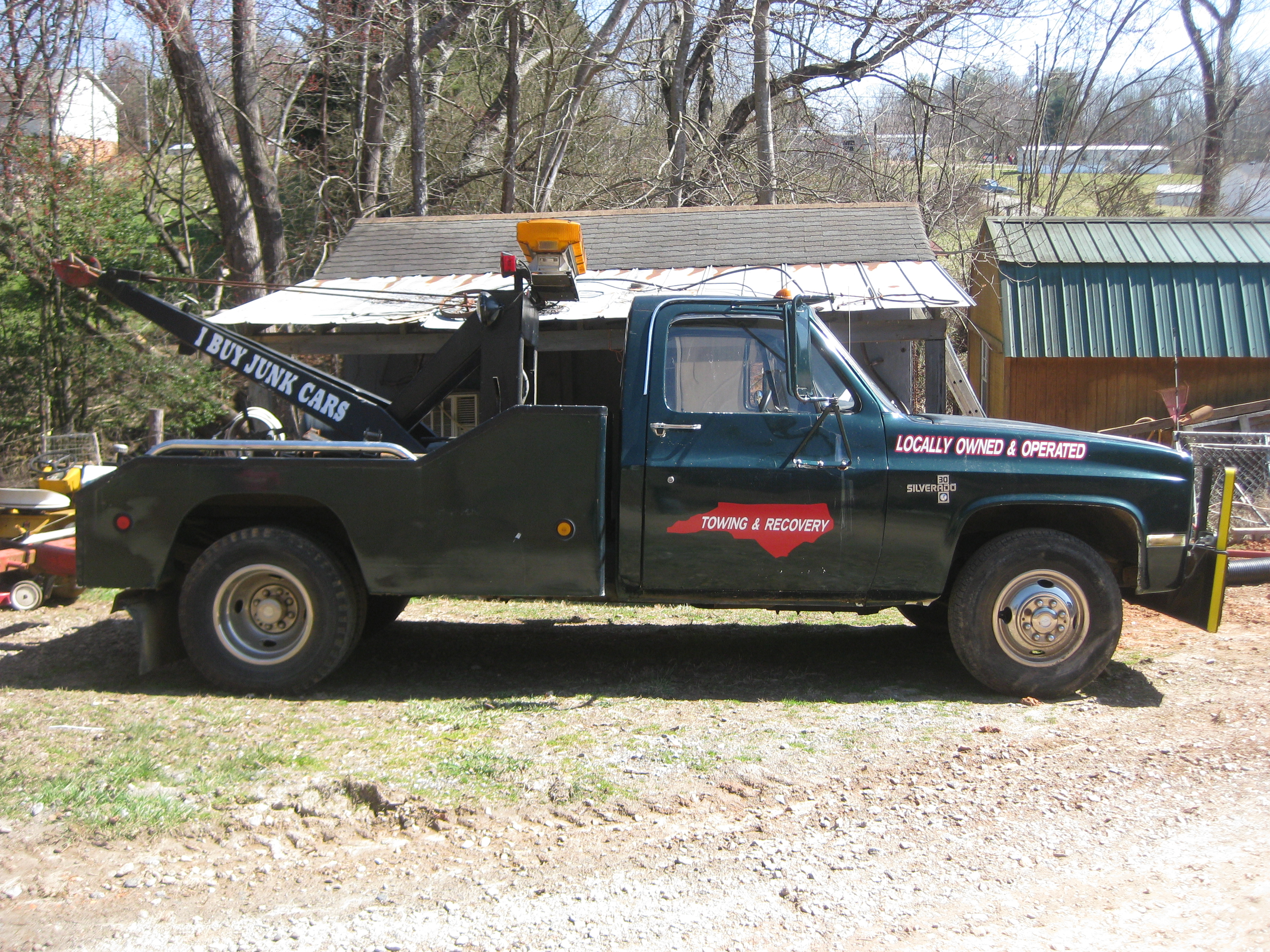 1986 chevy scottsdale tow wrecker waxhaw nc james for Motor vehicle department scottsdale
