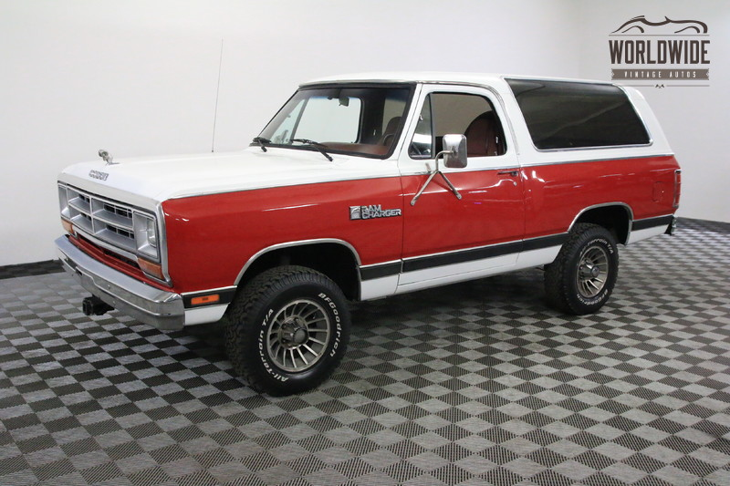 1986 Dodge RAMCHARGER AZ TRUCK ONE OWNER COLLECTOR GRADE 4X4