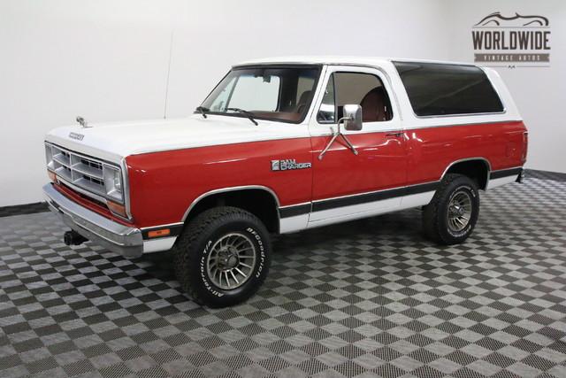 1986 dodge ramcharger az truck one owner collector grade 4x4 denver colorado red 1986 dodge. Black Bedroom Furniture Sets. Home Design Ideas