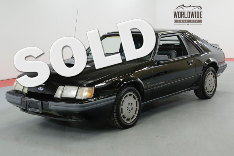 1986 Ford MUSTANG SVO STOCK TURBO CHARGED 74K ORIGINAL MILES | Denver, CO | Worldwide Vintage Autos