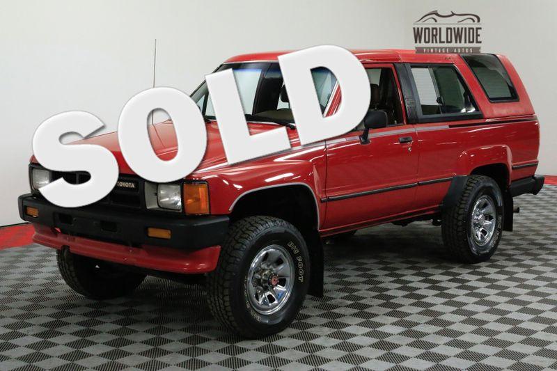 1986 Toyota 4RUNNER ORIGINAL LOW MILES MANUAL COLLECTOR GRADE | Denver, CO | WORLDWIDE VINTAGE AUTOS