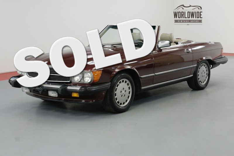 1987 Mercedes-Benz 560SL TWO TOP $5K+ IN RECENT MOTOR WORK IMMACULATE | Denver, CO | Worldwide Vintage Autos