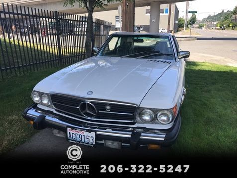 1987 Mercedes Benz 560SL Roadster Convertible White Excellent Condition Local 2 Owner With Full Service History in Seattle