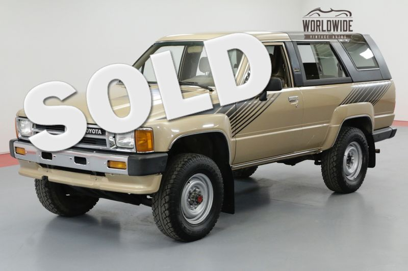 1989 Toyota 4RUNNER EFI. LOW MILES! 1 OWNER! AC! MANUAL! | Denver, CO | Worldwide Vintage Autos