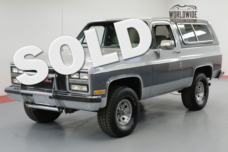 1990 GMC JIMMY REBUILT V8 W/ 2K MILES. DRY NM TRUCK. 4X4.   Denver, CO   Worldwide Vintage Autos