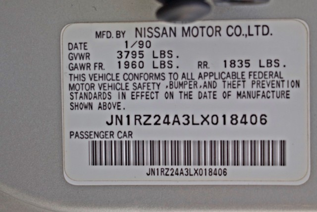 1990 Nissan 300ZX COUPE ONLY 82K ORIGINAL MLS MANUAL LEATHER SERVICE RECORDS Woodland Hills, CA 35