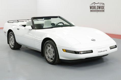 1992 Chevrolet CORVETTE CONVERTIBLE, 6-SPEED C4 GENERATION CORVETTE | Denver, CO | Worldwide Vintage Autos in Denver, CO
