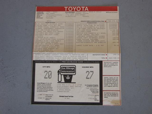 1992 Toyota MR2 TURBO Jacksonville , FL 41